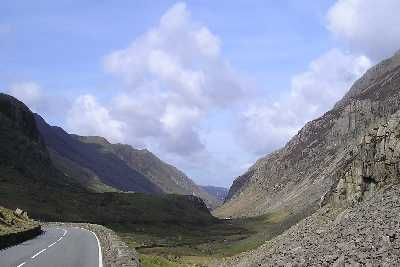 In the Llanberis Pass near Pen-y-Pass