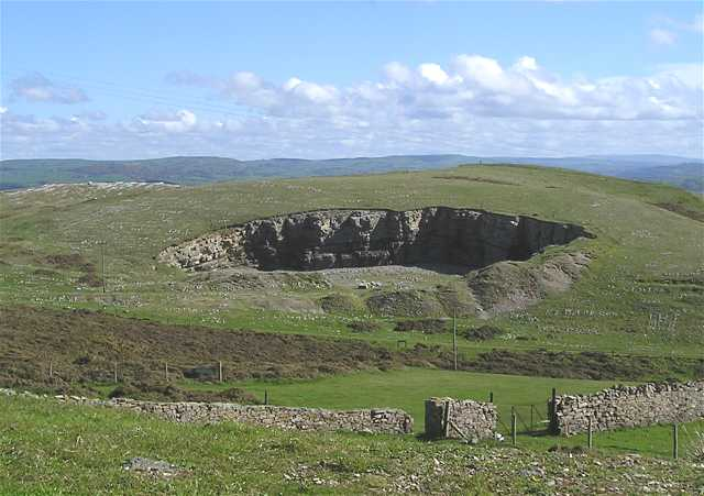 Just Below The Summit Is Semicircular Face Of Bi S Quarry On Land Given To Bangor By King Edward I In 1284 Church Sold